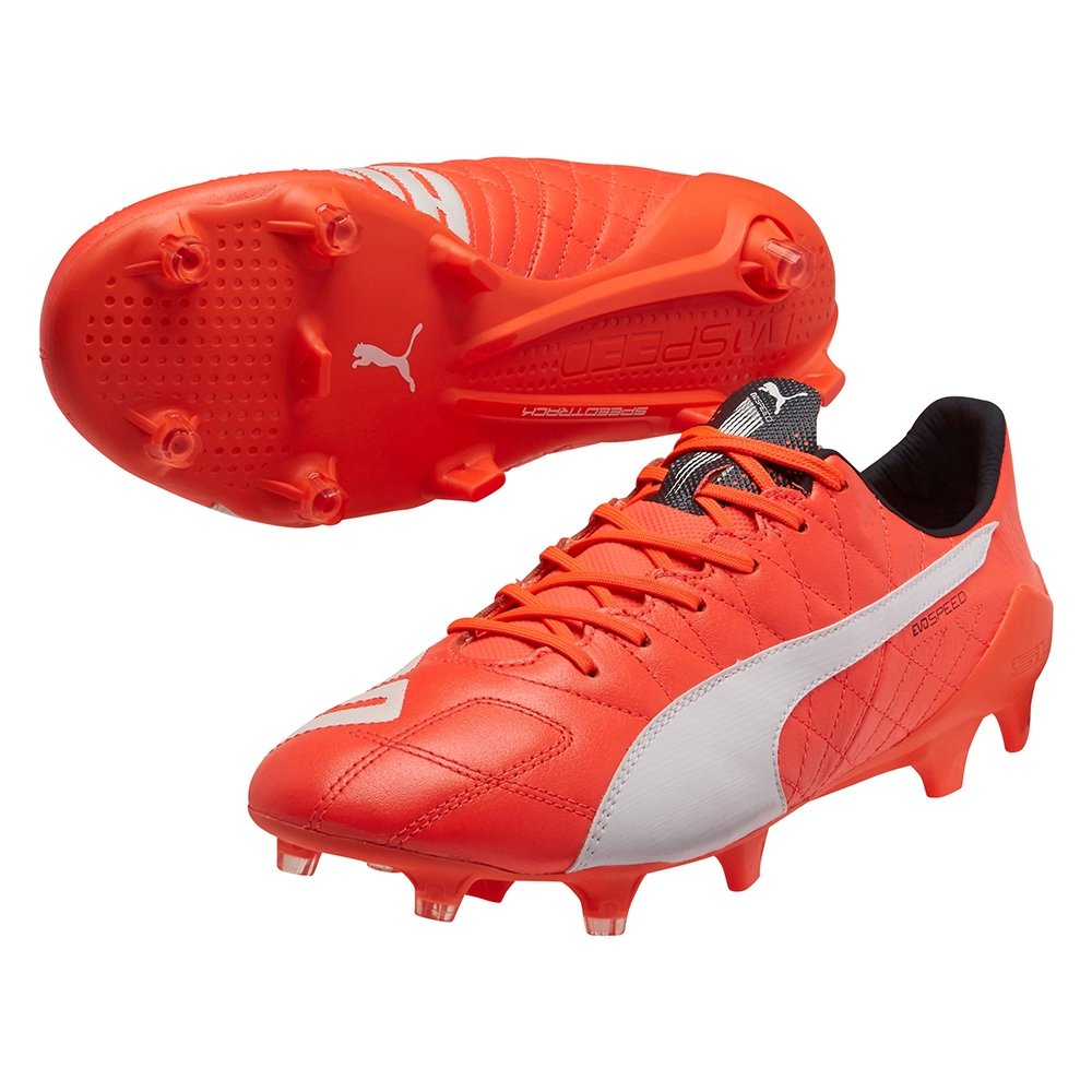 6ed5f0d14 $206.99 - Puma evoSPEED SL (Leather) FG Soccer Cleats (Lava Blast ...