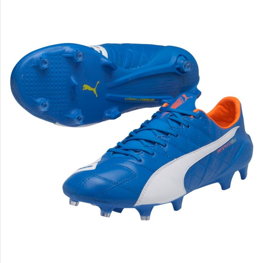22d5eb7956be SALE $154.95 - Puma evoSPEED SL (Leather) FG Soccer Cleats (Electric ...