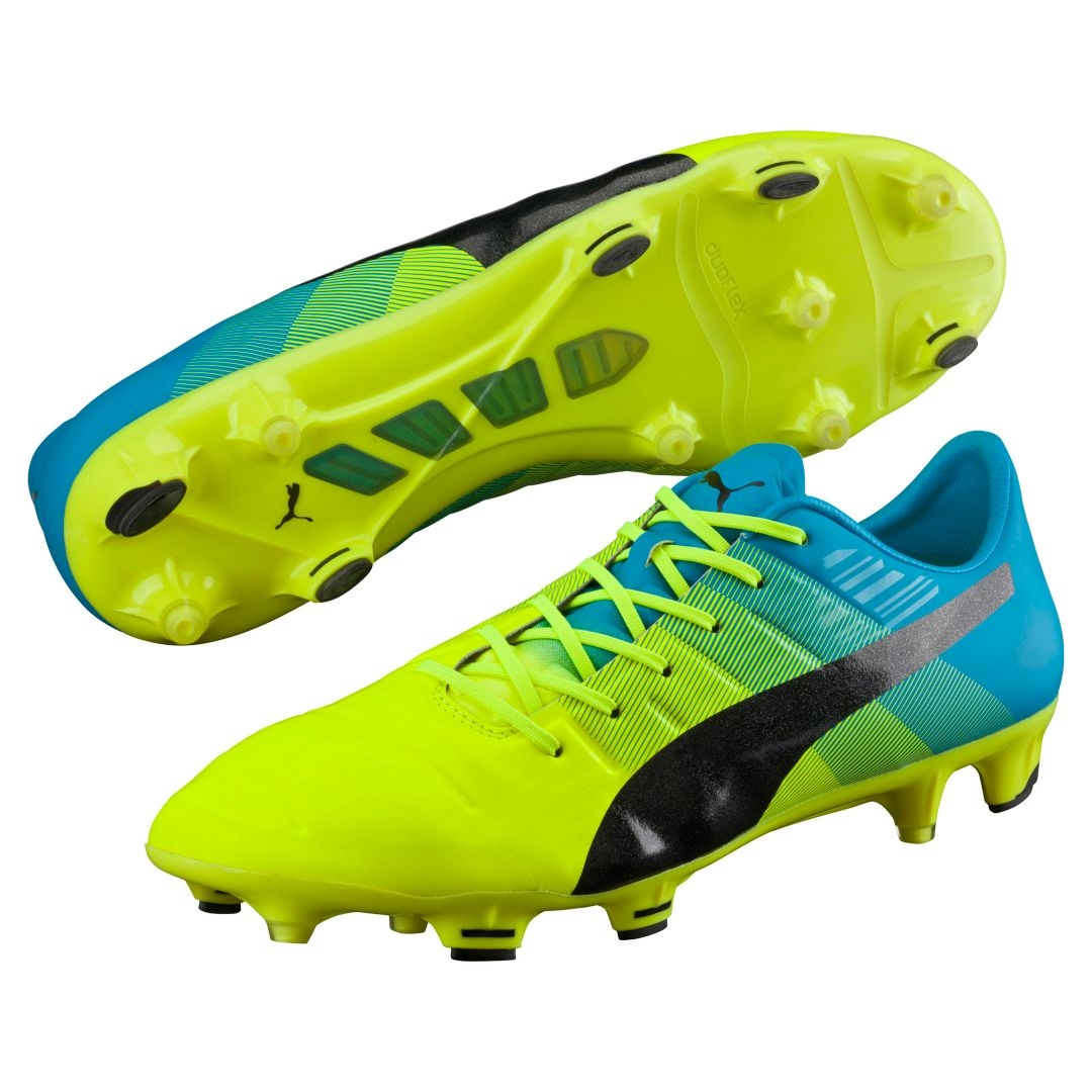 197.99 - Puma evoPOWER 1.3 FG Soccer Cleats (Safety Yellow Black ... 41c2eae18