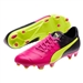 Puma evoPOWER 3.3 Tricks FG Soccer Cleats (Pink Glo/Safety Yellow/Black)