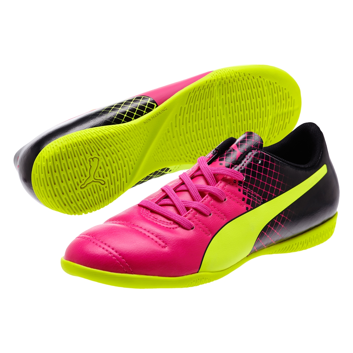 336bfec63 $49.99 - Puma evoPOWER 4.3 Tricks Youth IT Indoor Soccer Shoes (Pink ...