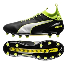 Puma evoTOUCH Pro FG Soccer Cleats (Black/Safety Yellow)