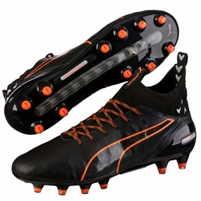 Puma evoTOUCH Pro FG Soccer Cleats (Black/Black/Shocking Orange)