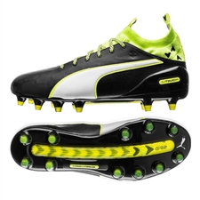 Puma evoTOUCH 1 FG Soccer Cleats (Black/Safety Yellow)