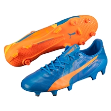 Puma evoSPEED SL Tricks FG Soccer Cleats (Orange Clown Fish/Electric Blue Lemonade)