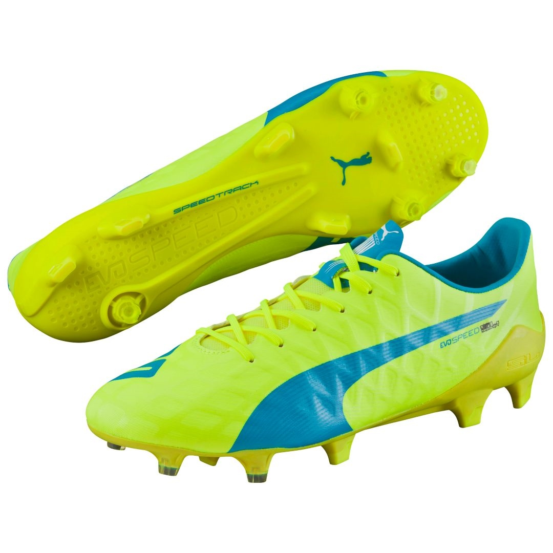 4733dad9e $179.99 - Puma evoSPEED SL-S FG Soccer Cleats (Safety Yellow/Atomic ...