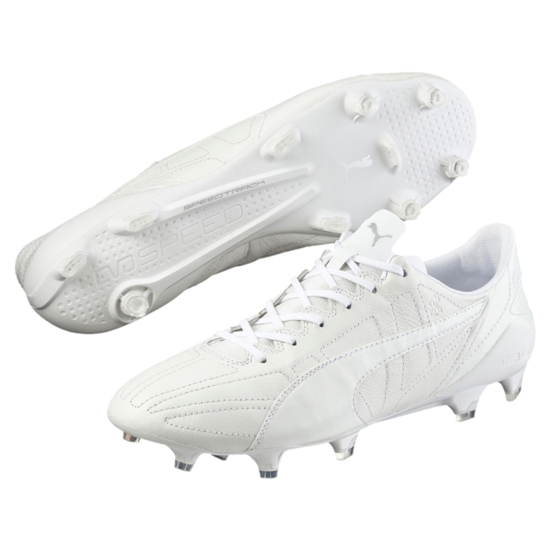 53d8c2e69bb ... coupon for puma evospeed sl ii k leather fg soccer cleats white 589ef  ee979