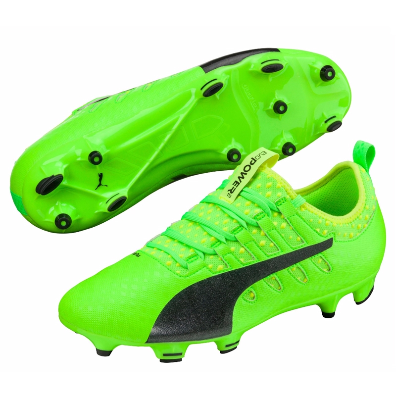 Puma evoPOWER Vigor 2 FG Soccer Cleats (Green GeckoBlackSafety Yellow)
