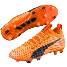 Puma evoPOWER Vigor 3D 1 FG Soccer Cleats (Ultra Yellow/Peacoat/Orange Clown Fish)