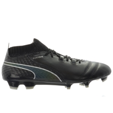 Puma One 17.1 FG Soccer Cleats (Black/Silver)