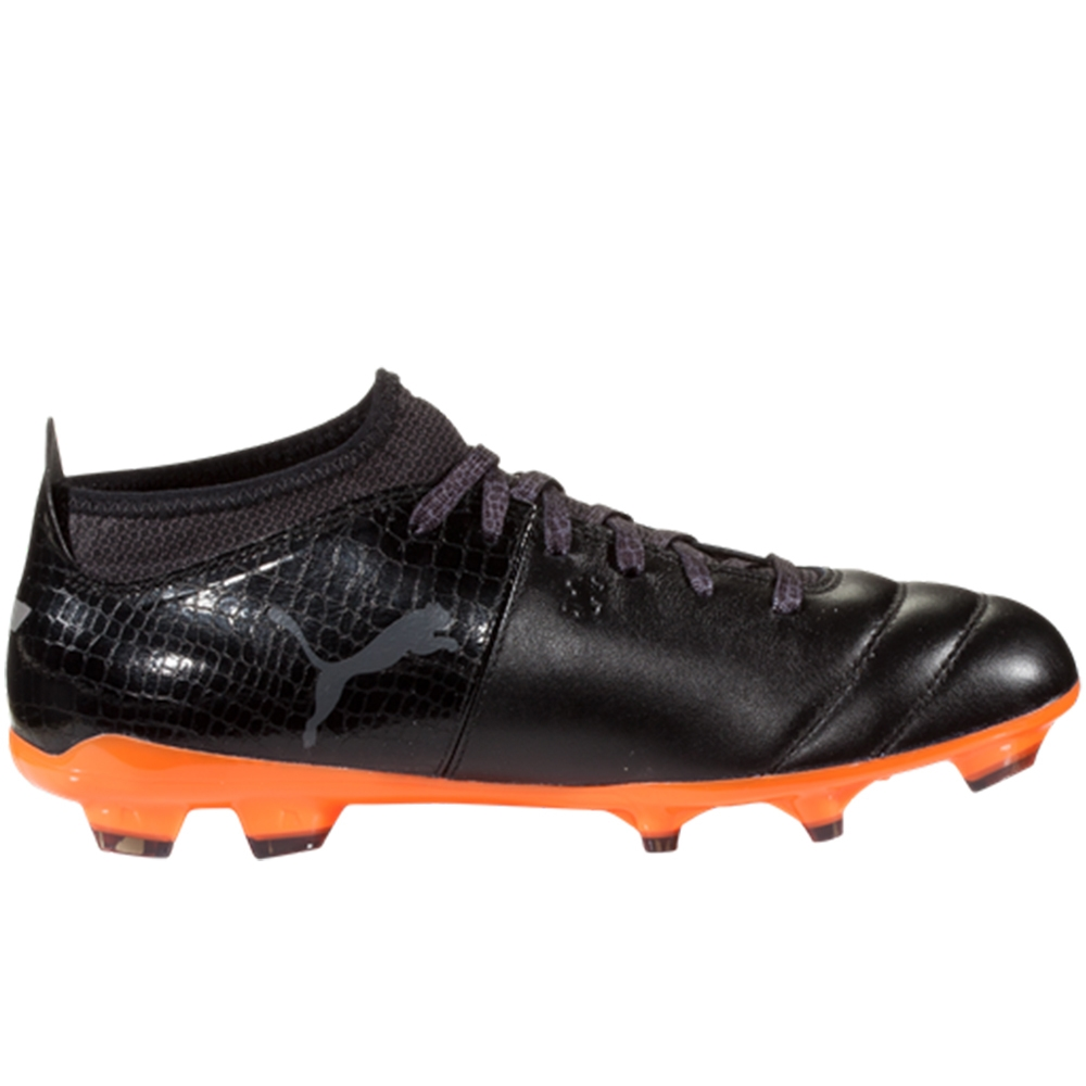 04d3b19f334 Puma One Lux 2 FG Soccer Cleats (Black Shocking Orange)