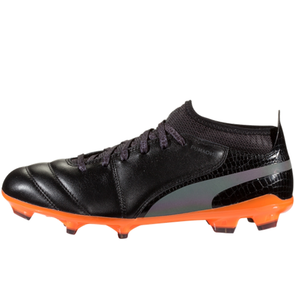 f30c90466 Puma One Lux 2 FG Soccer Cleats (Black/Shocking Orange) | Soccer ...
