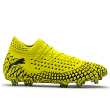 Puma FUTURE 4.1 NETFIT FG/AG Soccer Cleats (Yellow Alert/Puma Black)