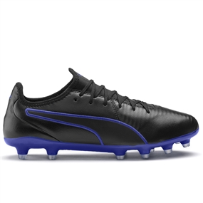 Puma King Pro FG Soccer Cleats (Puma Black/Royal Blue)