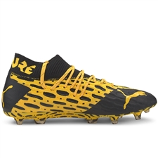 Puma FUTURE 5.1 NETFIT FG/AG Soccer Cleats (Ultra Yellow/Puma Black)