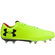 Under Armour ClutchFit Force 3.0 FG Soccer Cleats (High Vis Yellow/Black)