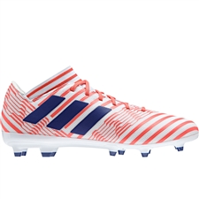 Adidas Women's Nemeziz 17.3 FG Soccer Cleats (White/Mystery Ink/Easy Coral)