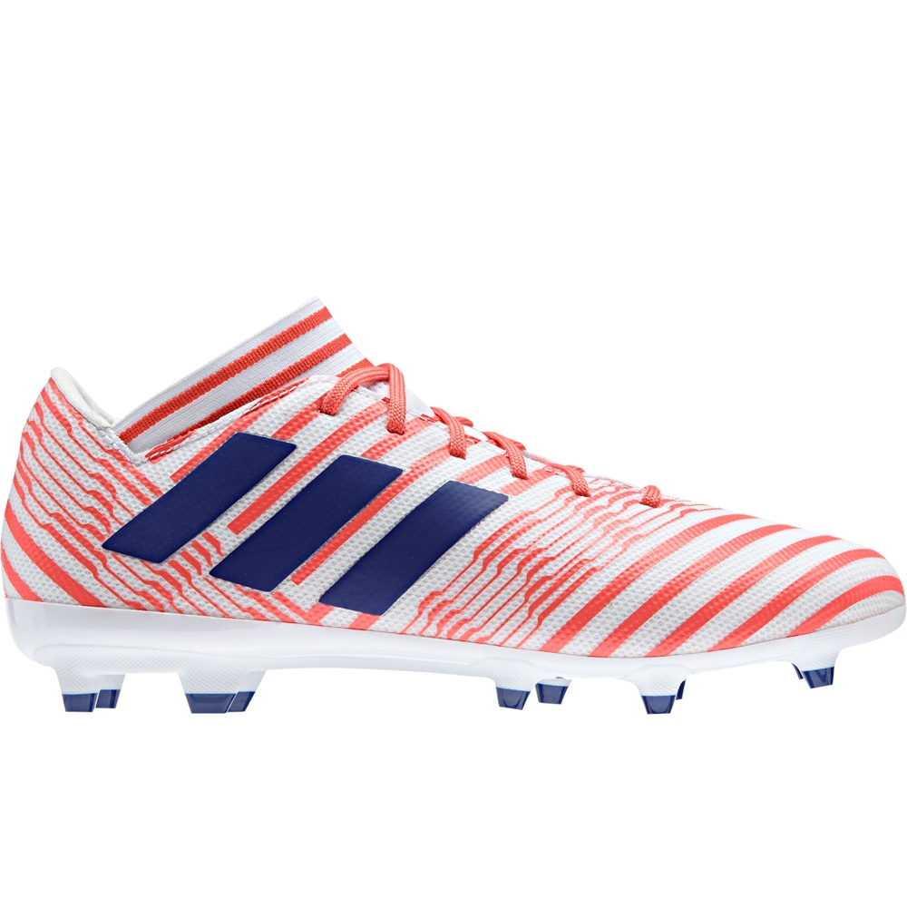 e15d2b9ffc3b Adidas Women s Nemeziz 17.3 FG Soccer Cleats (White Mystery Ink Easy ...