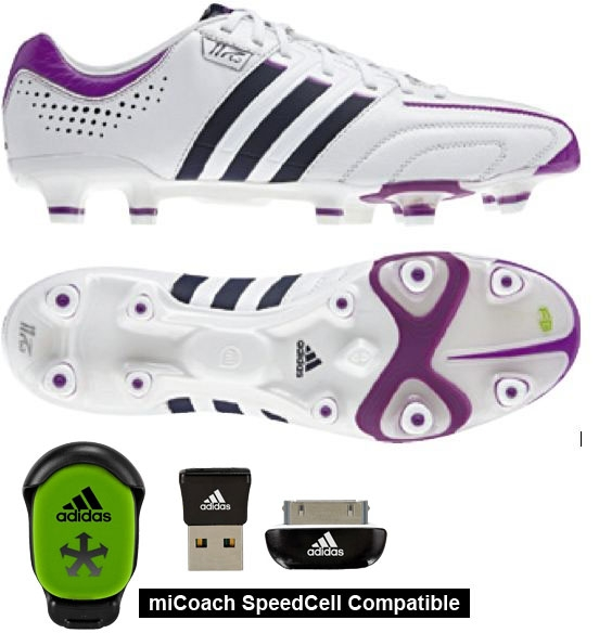 Adidas Women s adipure 11Pro in White and Ultra Purple  d47dc6165