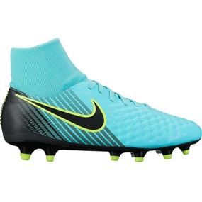 Nike Women's Magista Onda II FG Soccer Cleats (Light Aqua/Black/Igloo/Volt)