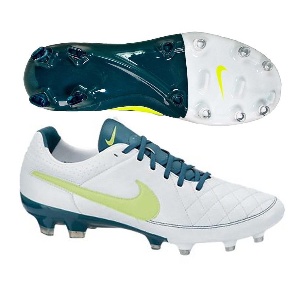 Nike Women\u0027s Tiempo Legacy FG Soccer Cleats (White/Night Factor/Volt)