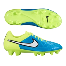 Nike Women's Tiempo Legacy FG Soccer Cleats (Blue Lagoon/Volt/Black/White)