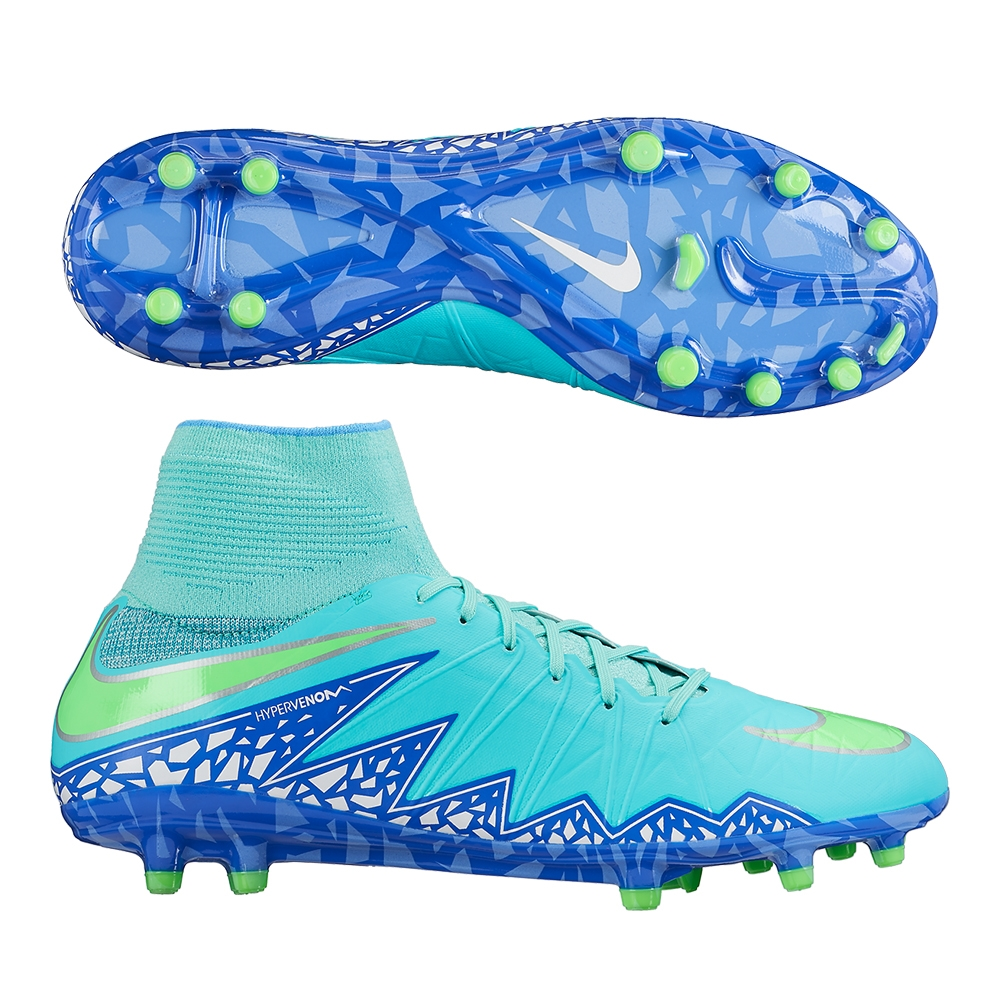Nike Women s Hypervenom Phantom II FG Soccer Cleats (Hyper Turq Racer  Blue Chalk Blue Voltage Green)  eb3cecab4