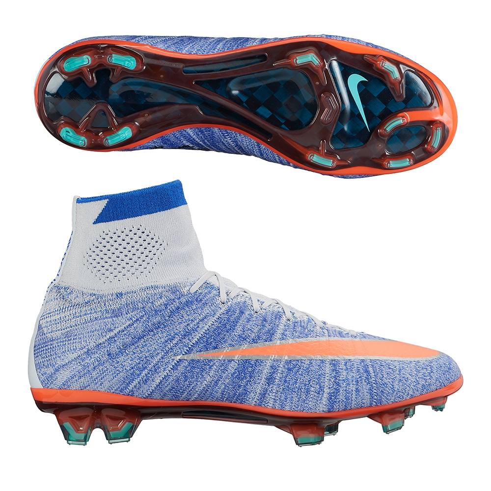 Nike Women's Mercurial SuperFly IV FG Soccer Cleats (Blue Tint ...