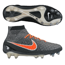 Nike Women's Magista Obra FG Soccer Cleats (Black/White/Dark Grey/Bright Crimson)