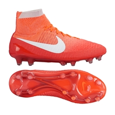 Nike Women's Magista Obra FG Soccer Cleats (Bright Crimson/University Red/Hyper Orange/White)