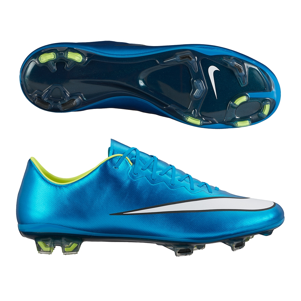 Mercurial Vapor X FG Soccer Cleats (Blue Lagoon White Volt Black ... 71031396eb