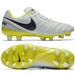 Nike Women's Tiempo Legacy II FG Soccer Cleats (Pure Platinum/Purple Dynasty/Electrolime)