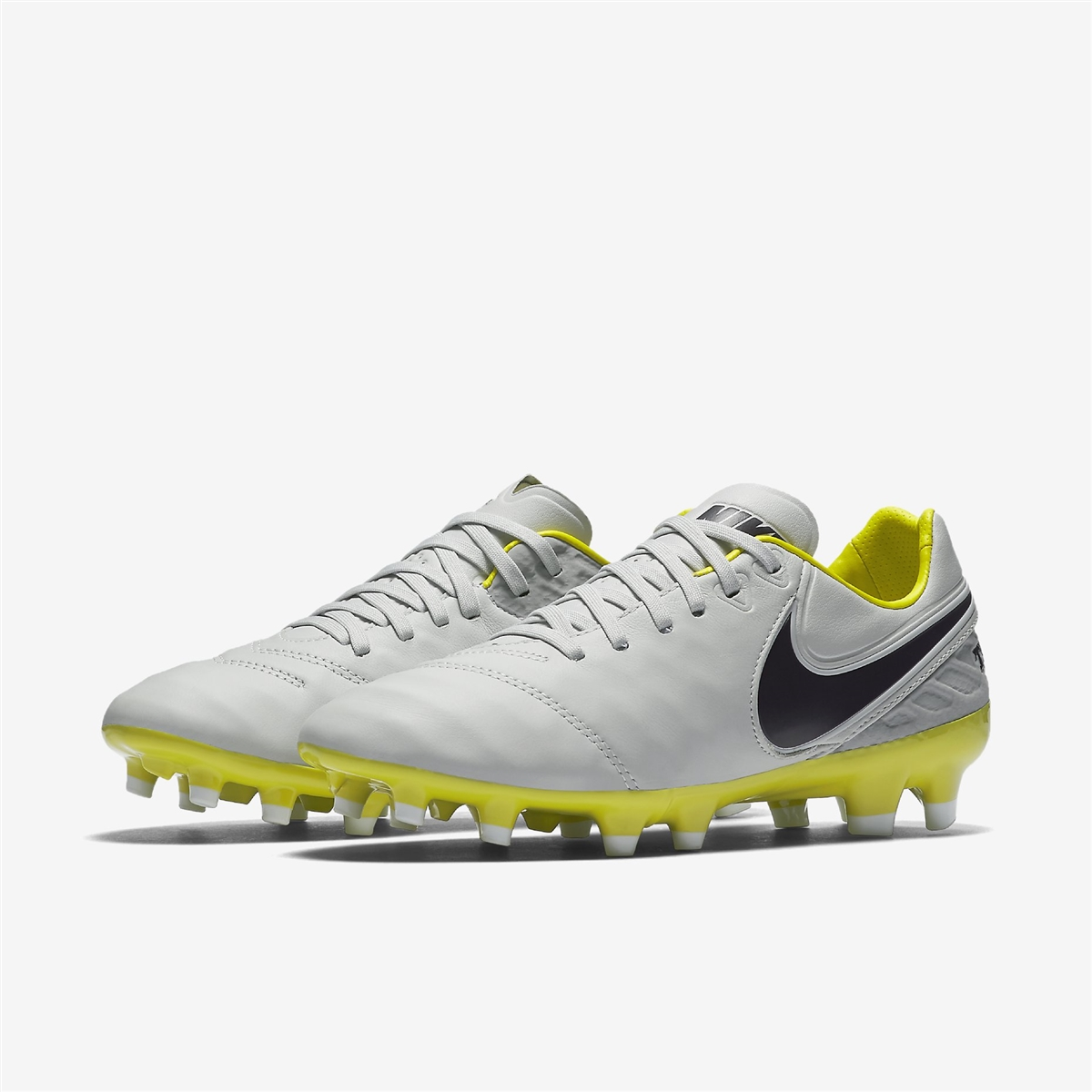 Nike Women's Tiempo Legacy II FG Soccer Cleats (Pure Platinum/Purple Dynasty /Electrolime)