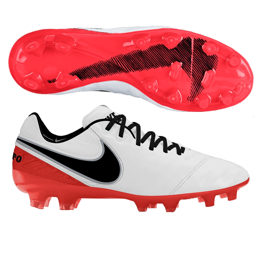 9346272428b Nike Women s Tiempo Legend VI FG Soccer Cleats (White Bright Crimson ...