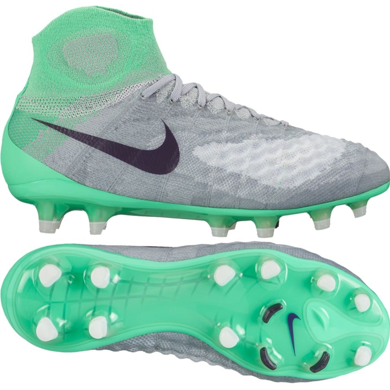 Nike Women s Magista Obra II FG Soccer Cleats (Wolf Grey Purple  Dynasty Electro Green)  f6f70d4c69