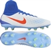 Nike Women's Magista Orden II FG Soccer Cleats (White/Bright Crimson/Racer Blue/Volt)