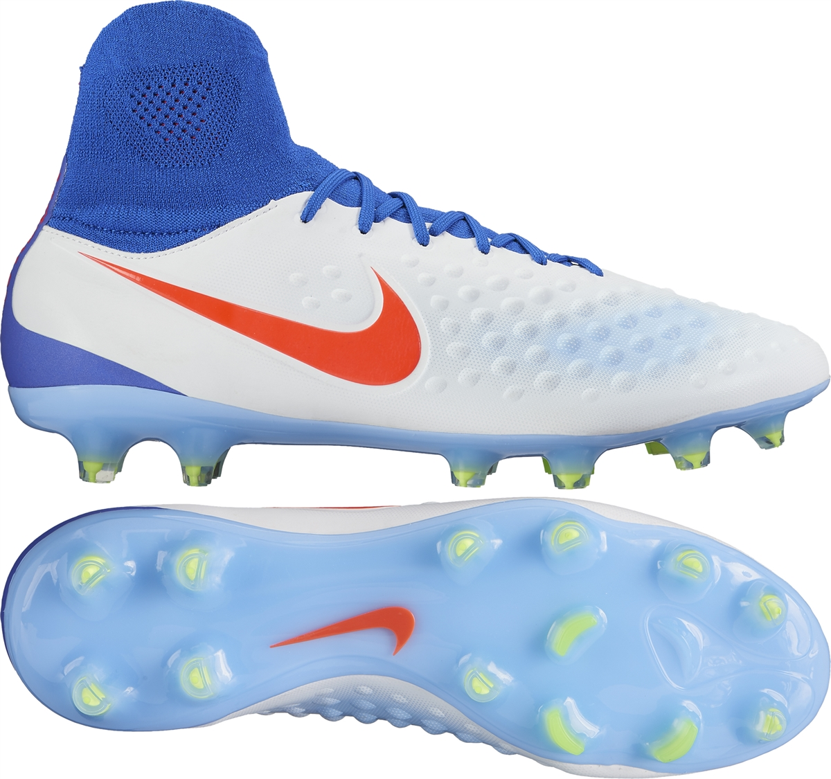 sports shoes a68be 397a5 ... release date nike womens magista orden ii fg soccer cleats white bright  crimson racer blue 99376