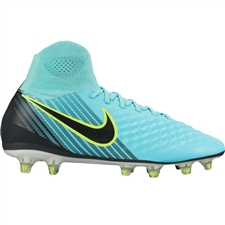 Nike Women's Magista Orden II FG Soccer Cleats (Light Aqua/Black/Igloo/White)