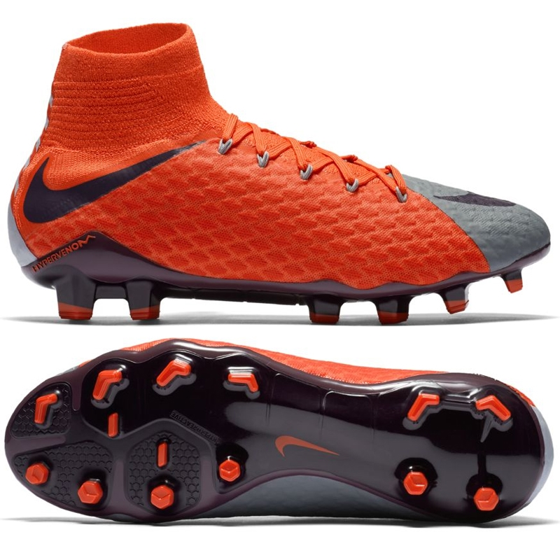 Nike Women s Hypervenom Phatal III DF FG Soccer Cleats (Cool Grey ... 86fe580447