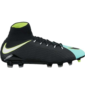 Nike Women's Hypervenom Phatal III DF FG Soccer Cleats (Light Aqua/White/Black/Volt)