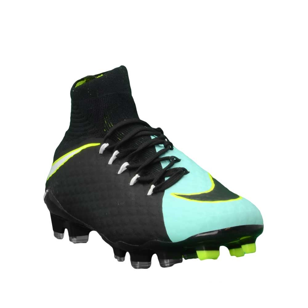 d37e3e08d873c Nike Women's Hypervenom Phatal III DF FG Soccer Cleats (Light Aqua/White /Black/Volt)