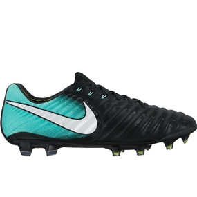 Nike Women's Tiempo Legend VII FG Soccer Cleats (Black/White/Light Aqua/Volt)