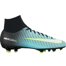 Nike Women's Mercurial Victory VI FG Soccer Cleats (Light Aqua/White/Black/Volt)
