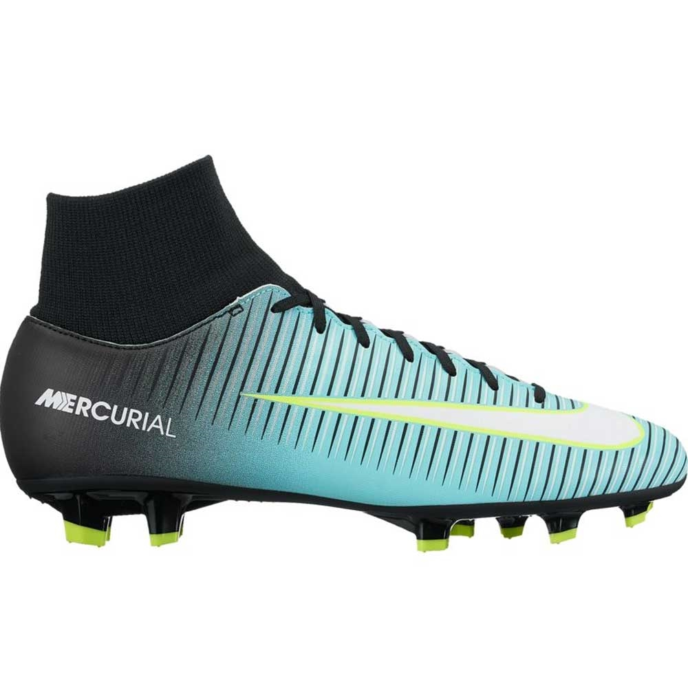 Nike Women s Mercurial Victory VI FG Soccer Cleats (Light Aqua White ... 75962f84a