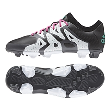 Adidas X 15.1 Youth FG/AG Soccer Cleats (Black/Shock Mint/White) |  Adidas Soccer Cleats |FREE SHIPPING| Adidas AF4724 |  SOCCERCORNER.COM