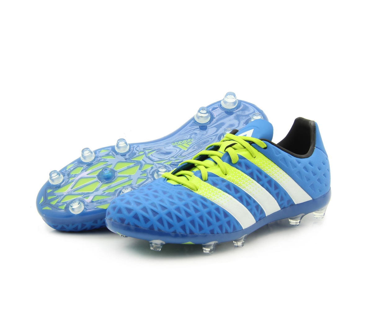 super popular 97669 fd8d3 Adidas ACE 16.1 Youth FG AG Soccer Cleats (Shock Blue White Solar