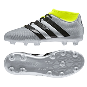 8a65a4332 Adidas ACE 16.3 Primemesh Youth FG AG Soccer Cleats (Silver Metallic Core  Black