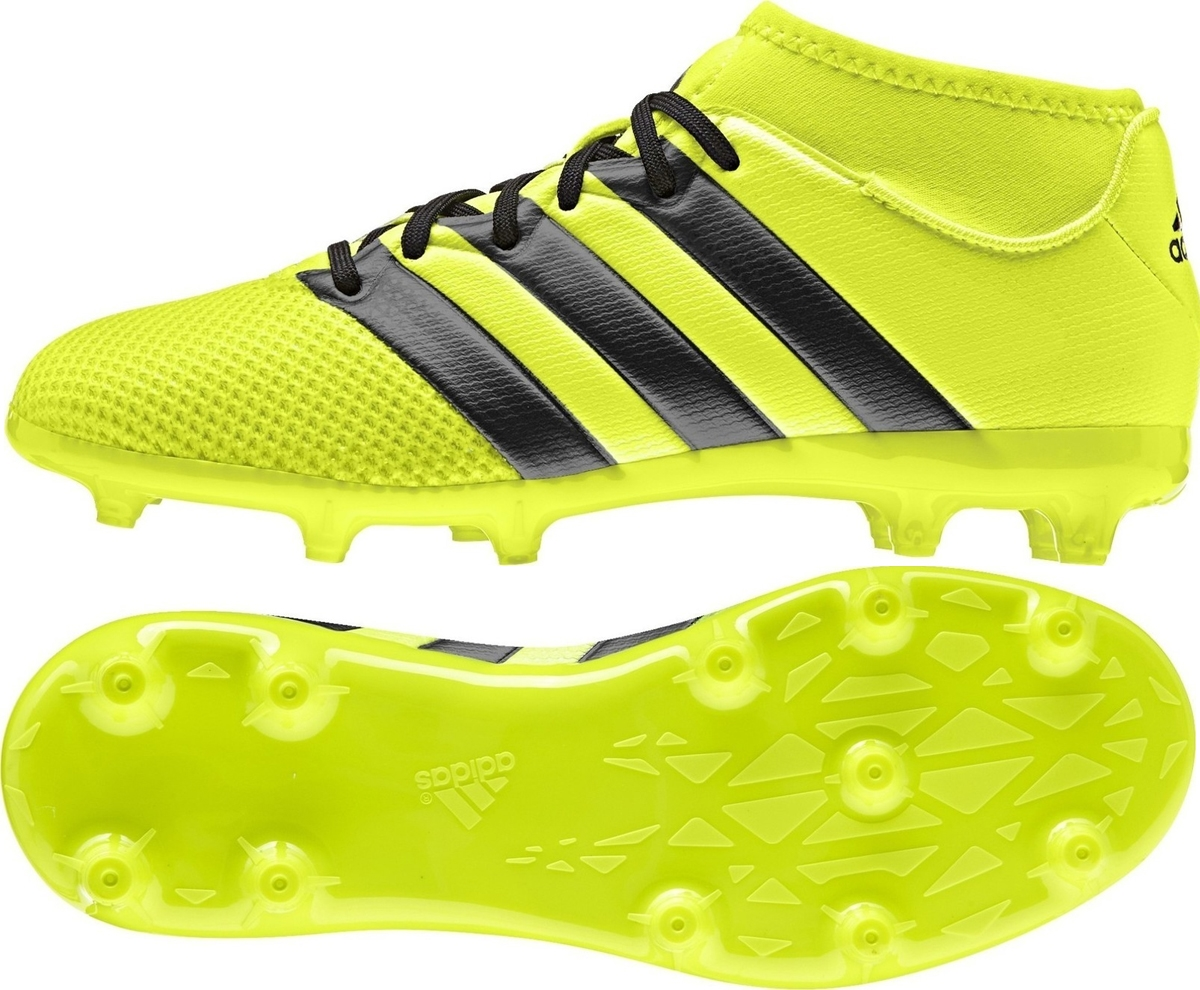 2acca45ce Adidas ACE 16.3 Primemesh Youth FG AG Soccer Cleats (Solar Yellow ...