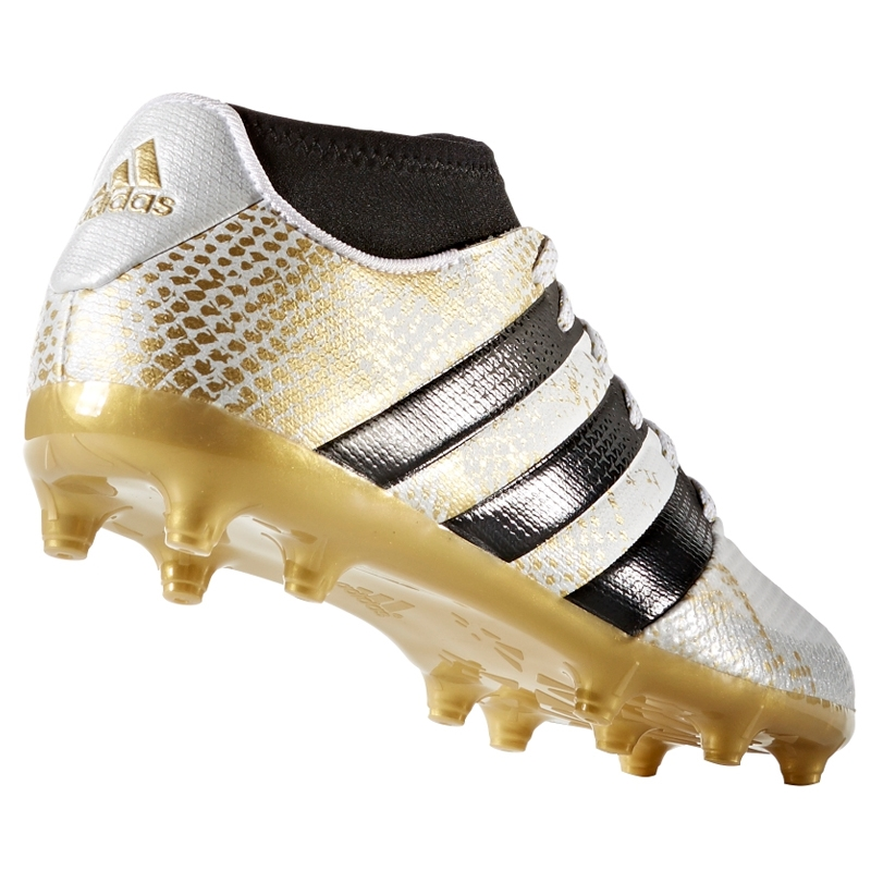 98e974c9f Adidas ACE 16.3 Primemesh Youth FG AG Soccer Cleats (White Gold ...