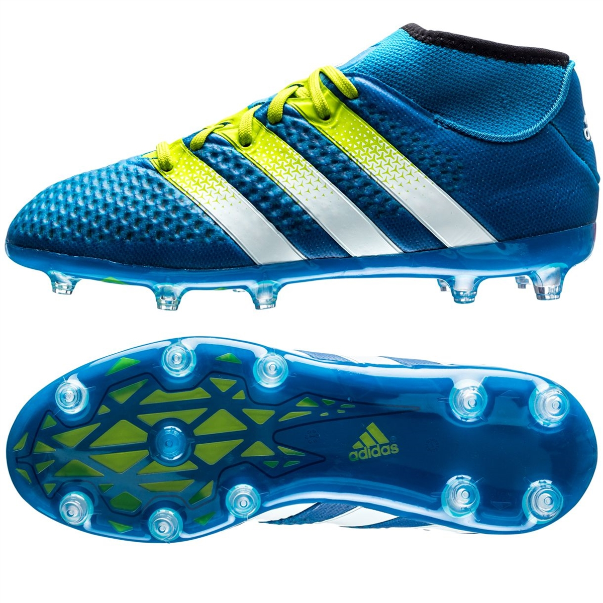 low priced a2fbb 337e6 Adidas ACE 16.1 Primeknit Youth FG Soccer Cleats (Shock/Semi Solar Slime)